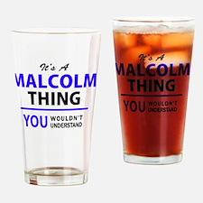 Unique A. malcolm Drinking Glass