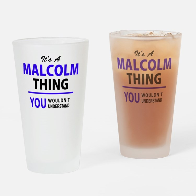 Cute Malcolm Drinking Glass