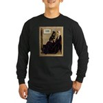 Mom's Rottweiler Long Sleeve Dark T-Shirt