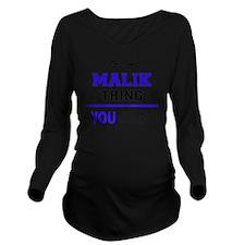 Cute Malik's Long Sleeve Maternity T-Shirt