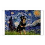 Starry Night Rottweiler Sticker (Rectangle)