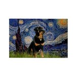 Starry Night Rottweiler Rectangle Magnet