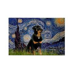 Starry Night Rottweiler Rectangle Magnet