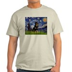 Starry Night Rottweiler Light T-Shirt
