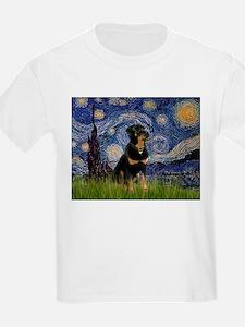 Starry Night Rottweiler T-Shirt
