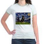 Starry Night Rottweiler Jr. Ringer T-Shirt