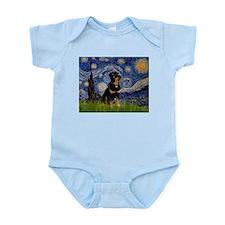 Starry Night Rottweiler Infant Bodysuit