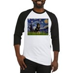 Starry Night Rottweiler Baseball Jersey
