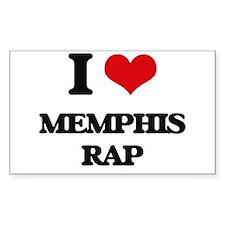 I Love MEMPHIS RAP Decal