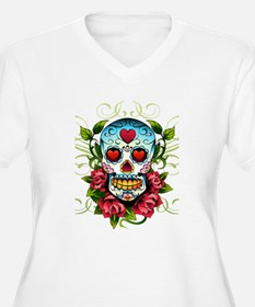 Day of the Dead Skull Plus Size T-Shirt