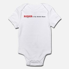 Danger Is My Middle Name Infant Bodysuit