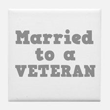 Married to a Veteran Tile Coaster