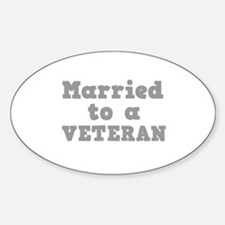 Married to a Veteran Oval Decal