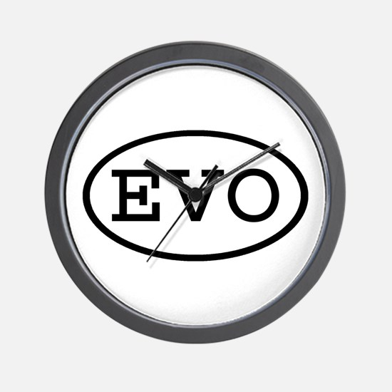 EVO Oval Wall Clock