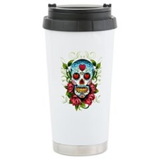 Day of the Dead Skull Thermos Mug