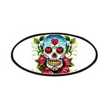 Day of the Dead Skull Patches