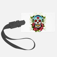 Day of the Dead Skull Luggage Tag