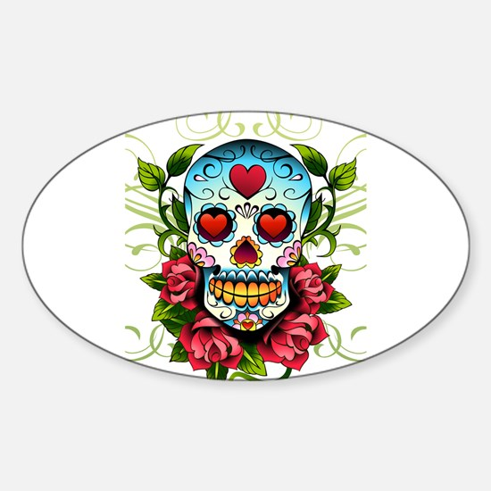 Day of the Dead Skull Decal
