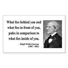 Ralph Waldo Emerson 11 Rectangle Decal