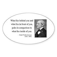 Ralph Waldo Emerson 11 Oval Decal
