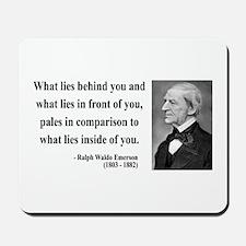 Ralph Waldo Emerson 11 Mousepad