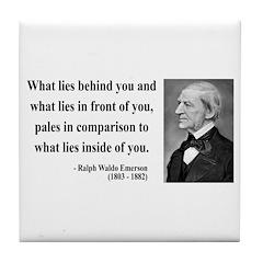Ralph Waldo Emerson 11 Tile Coaster