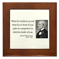 Ralph Waldo Emerson 11 Framed Tile