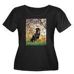 Spring / Rottweiler Women's Plus Size Scoop Neck D