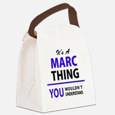 Funny Marc Canvas Lunch Bag