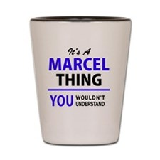 Funny Marcel Shot Glass