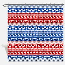 Ski Sweater Pattern Shower Curtain
