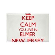 Keep calm you live in Elmer New Jersey Magnets