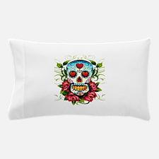 Day of the Dead Skull Pillow Case