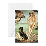 Venus & Rottweiler Greeting Cards (Pk of 10)