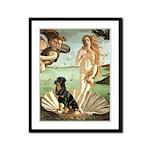 Venus & Rottweiler Framed Panel Print