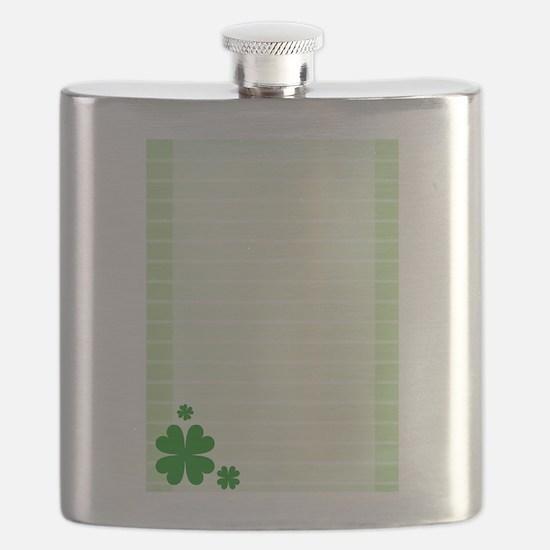Four Leaf Clovers Shamrock Flask