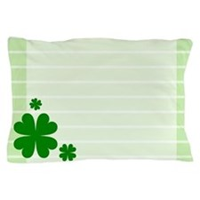 Four Leaf Clovers Shamrock Pillow Case