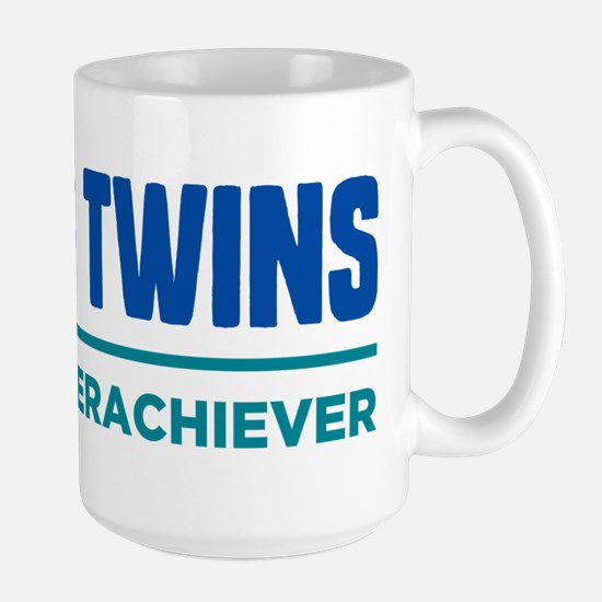 DAD OF TWINS Classic Overachiever Travel Mugs