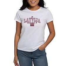 LV Latvija/Latvia Ice Hockey Tee