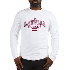 LV Latvija/Latvia Ice Hockey Long Sleeve T-Shirt