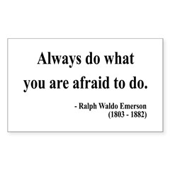 Ralph Waldo Emerson 12 Rectangle Decal