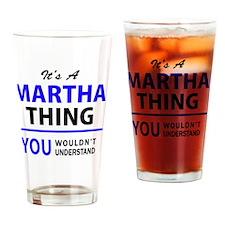 Cute Martha Drinking Glass