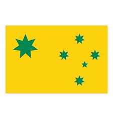 Australian flag decorative Postcards (Package of 8