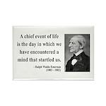 Ralph Waldo Emerson 13 Rectangle Magnet (100 pack)