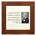 Ralph Waldo Emerson 13 Framed Tile