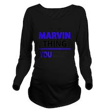 Cute Marvins Long Sleeve Maternity T-Shirt