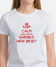 Keep calm you live in Garfield New Jersey T-Shirt