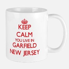 Keep calm you live in Garfield New Jersey Mugs