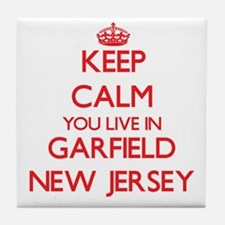 Keep calm you live in Garfield New Je Tile Coaster