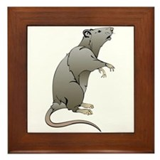 Cute Cartoon Mouse Framed Tile